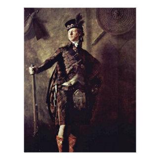Portrait Of Colonel Alastair Macdonell Of Glengarr Flyer Design