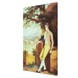 Portrait of Colonel David La Touche of Marcey Stretched Canvas Print