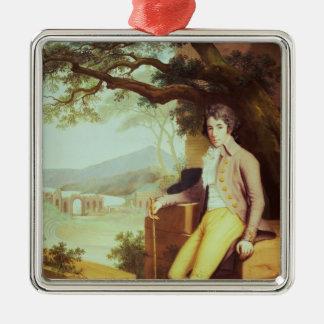 Portrait of Colonel David La Touche of Marcey Christmas Tree Ornaments