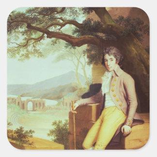 Portrait of Colonel David La Touche of Marcey Square Sticker