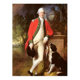 Portrait Of Colonel John Bullock by Gainsborough Postcard