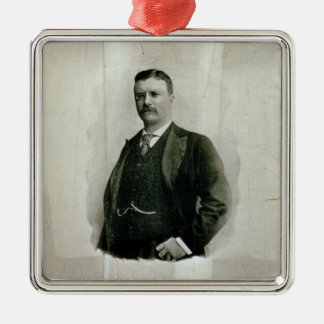 Portrait of Colonel Theodore Roosevelt (litho) Metal Ornament