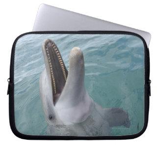 Portrait of Common Bottlenose Dolphin, Caribbean Laptop Sleeve