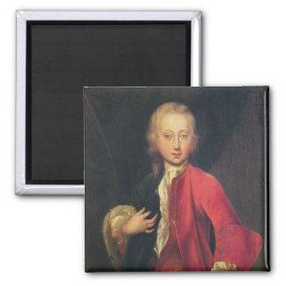 Portrait of Comte Maurice de Saxe 2 Inch Square Magnet