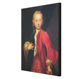 Portrait of Comte Maurice de Saxe Canvas Print