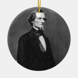 Portrait of Confederate President Jefferson Davis Ceramic Ornament