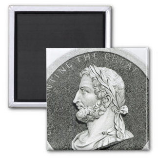 Portrait of Constantine the Great 2 Inch Square Magnet