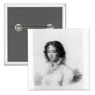 Portrait of Constanze Mozart  1828 Pinback Button