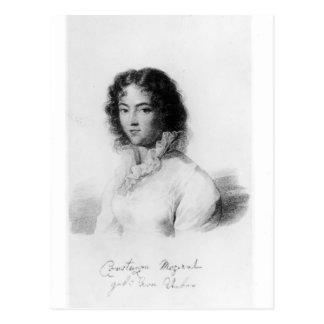 Portrait of Constanze Mozart  1828 Postcard