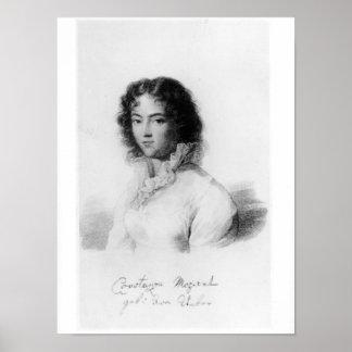 Portrait of Constanze Mozart  1828 Poster
