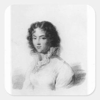 Portrait of Constanze Mozart  1828 Square Stickers