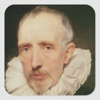 Portrait of Cornelis van der Geest, c.1620 Square Sticker