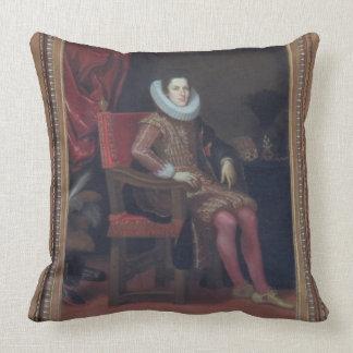 Portrait of Cosimo II de'Medici (1590-1621) (oil o Throw Pillow