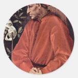 Portrait Of Cosimo Il Vecchio De' Medici, By Ponto Round Sticker