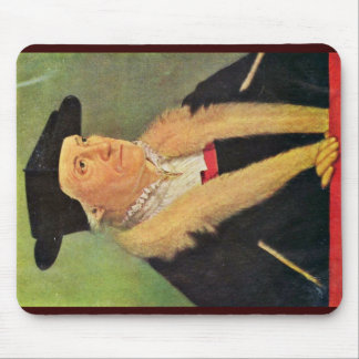 Portrait Of Cosmographers Sebastian Munster Mouse Pad