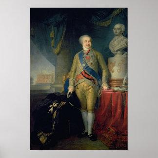 Portrait of Count Alexander Kurakin , 1802 Posters