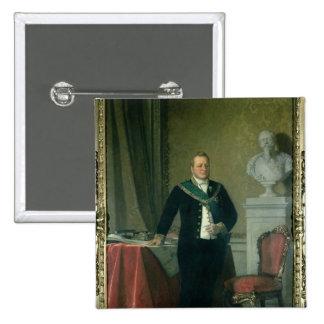 Portrait of Count Camillo Berso of Cavour 2 Inch Square Button