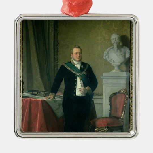 Portrait of Count Camillo Berso of Cavour Metal Ornament