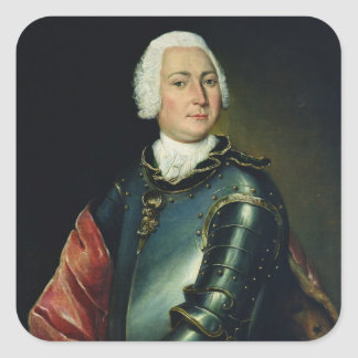 Portrait of Count Ernst Christoph von Manteuffel Square Sticker