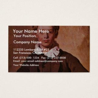 Portrait Of Count Hans Haubold Von Einsiedel By Ra Business Card