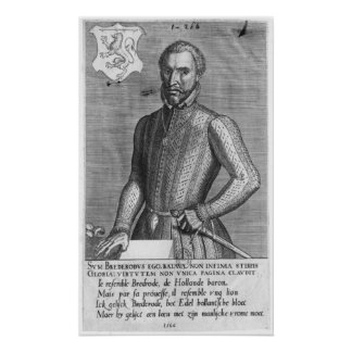 Portrait of Count Henry of Brederode  1566 Print