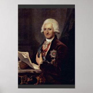 Portrait Of Count Johann Jakob Sievers By Grassi J Poster
