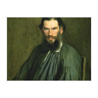 Portrait of Count Lev Nikolaevich Tolstoy  1873 Canvas Print