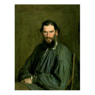 Portrait of Count Lev Nikolaevich Tolstoy  1873 Postcard