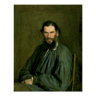 Portrait of Count Lev Nikolaevich Tolstoy  1873 Poster