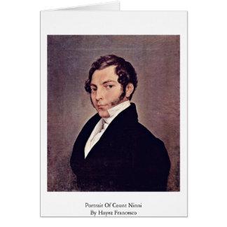 Portrait Of Count Ninni By Hayez Francesco Greeting Card