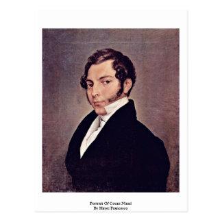 Portrait Of Count Ninni By Hayez Francesco Postcard