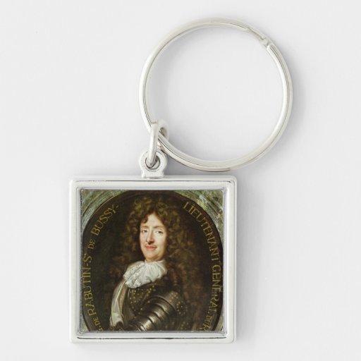Portrait of Count Roger Bussy de Rabutin Keychain