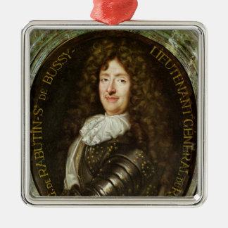 Portrait of Count Roger Bussy de Rabutin Metal Ornament