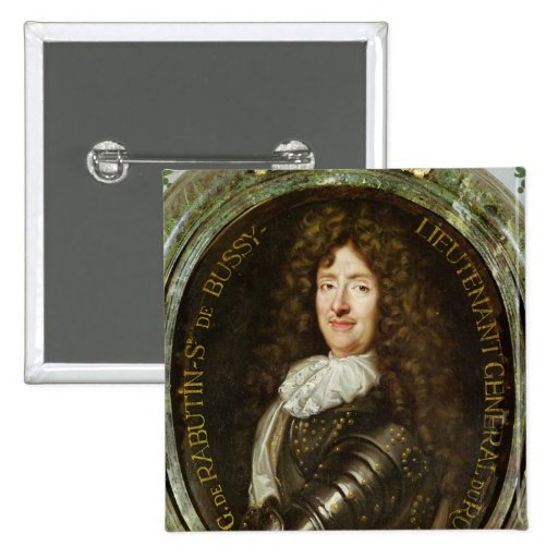 Portrait of Count Roger Bussy de Rabutin Pinback Button