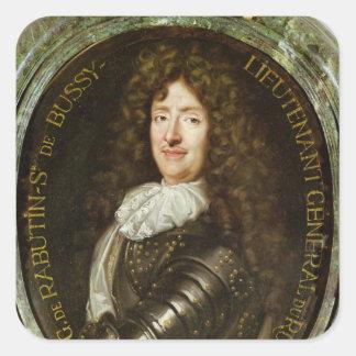 Portrait of Count Roger Bussy de Rabutin Square Stickers