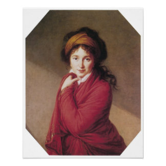 Portrait of Countess Golovin, Vigee-Lebrun Poster