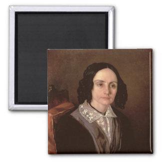 Portrait of Countess Maria Volkonskaja  1848 Magnet