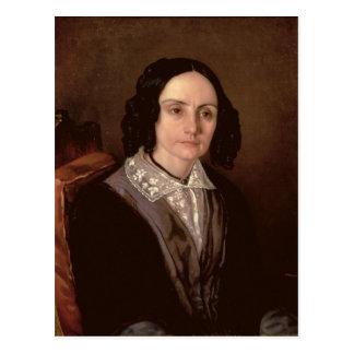 Portrait of Countess Maria Volkonskaja  1848 Postcard