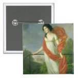 Portrait of Countess Theresia Fries , 1801 2 Inch Square Button