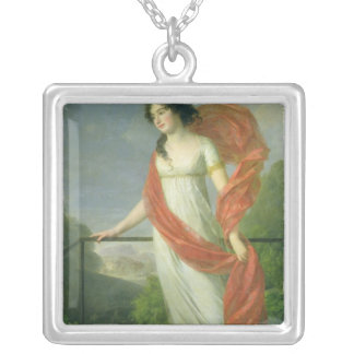 Portrait of Countess Theresia Fries , 1801 Silver Plated Necklace