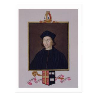 Portrait of Cuthbert Tunstall (1474-1559) Bishop o Postcard
