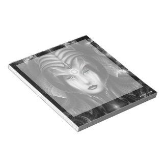 Portrait Of Cyiria Midnight Notepad