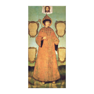 Portrait of Czar Fyodor Alexeevich Canvas Print