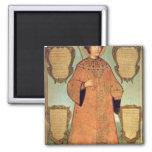 Portrait of Czar Fyodor Alexeevich 2 Inch Square Magnet