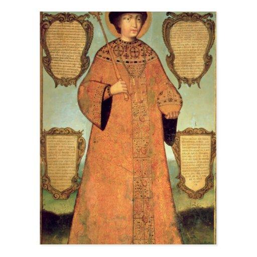 Portrait of Czar Fyodor Alexeevich Postcard