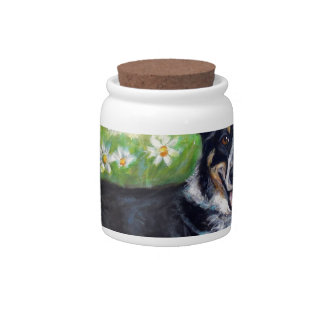 Portrait of Daisy 2 Candy Jar