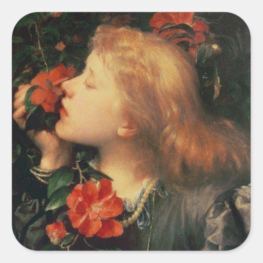 Portrait of Dame Ellen Terry  c.1864 Square Sticker