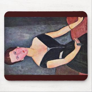 Portrait Of Dame Van Muyden By Modigliani Amedeo Mousepad