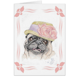 Portrait of Dandy in a Hat - art by Michelle Greeting Card