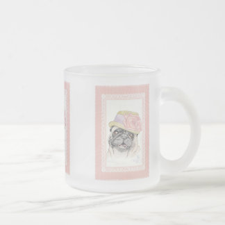 Portrait of Dandy in a Hat - art by Michelle 10 Oz Frosted Glass Coffee Mug